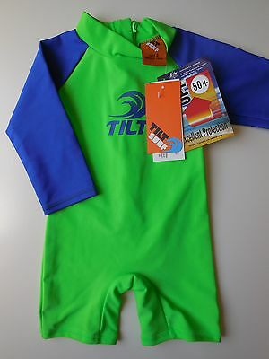 Baby Boy Bathers Rash One Pce Unitard Upf 50+ Size 0 Fits 6-12M *new