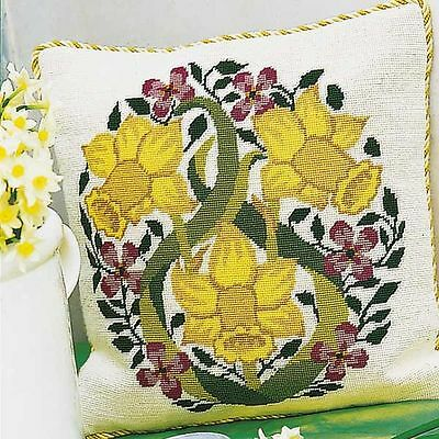 EHRMAN 2001 DAFFODILS NEEDLEPOINT /TAPESTRY KIT by CYNTHIA MITCHELL - RETIRED