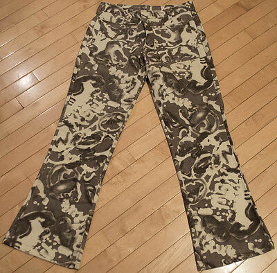 VINTAGE LOVE PEACE HIPPY 60'S CONTACT SLACKS BY MILLER MENS FLARED PANTS 30x30
