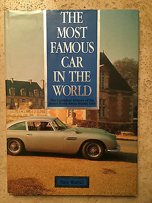 THE MOST FAMOUS CAR IN THE WORLD 1991 Hardcover  James Bond Aston Martin DB5