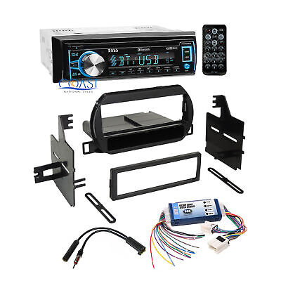 Boss Car Radio Stereo Single Din Dash Kit Bose Harness for 02-04 Nissan Altima