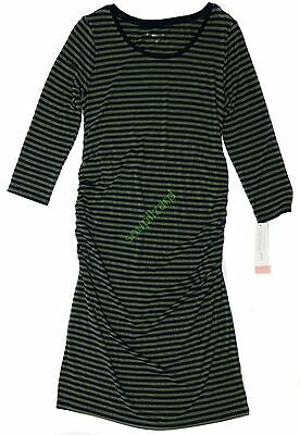 New Women's Maternity Shirt Dress Olive Navy NWT Liz Lange Size XS S M L XL XXL