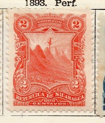 Nicaragua 1893 Early Issue Fine Mint Hinged 2c. 128407