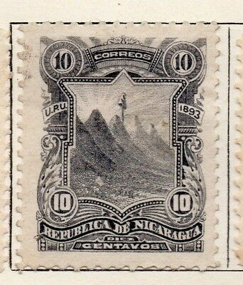 Nicaragua 1893 Early Issue Fine Mint Hinged 10c. 128410