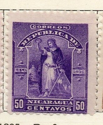 Nicaragua 1894 Early Issue Fine Mint Hinged 50c. 128421