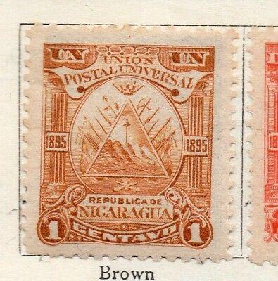 Nicaragua 1895 Early Issue Fine Mint Hinged 1c. 128425