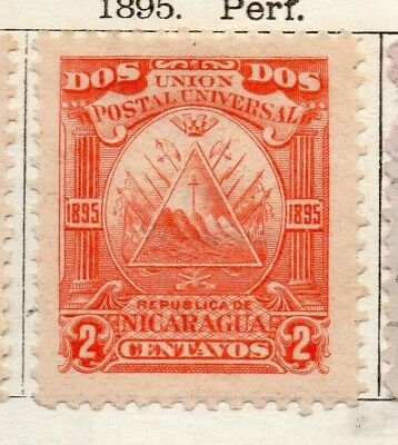 Nicaragua 1895 Early Issue Fine Mint Hinged 2c. 128426