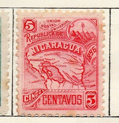 Nicaragua 1896 Early Issue Fine Mint Hinged 5c. 128431