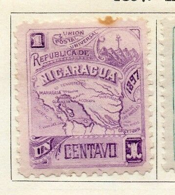 Nicaragua 1897 Early Issue Fine Mint Hinged 1c. 128432