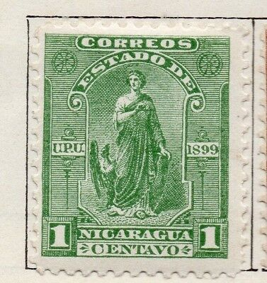 Nicaragua 1899 Early Issue Fine Mint Hinged 1c. 128451