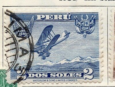 Peru 1934 Early Issue Fine Used 2S. 128581