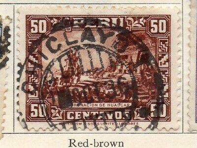 Peru 1934-35 Early Issue Fine Used 50c. 128588
