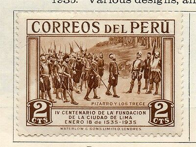 Peru 1935 Early Issue Fine Mint Hinged 2c. 128590