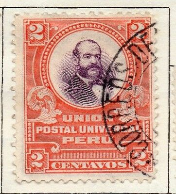 Peru 1907 Early Issue Fine Used 2c. 128615