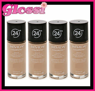 4 x REVLON COLORSTAY 24HR FOUNDATION MAKEUP ❤ COMBINATION/OILY 340 EARLY TAN
