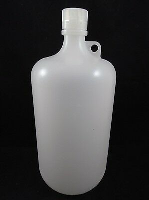 NALGENE Plastic Low Density Polyethylene Bottle Jug 1 Gallon 4000mL Capacity