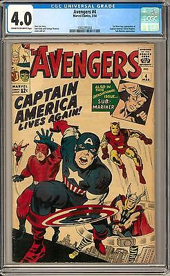Avengers #4 CGC 4.0 (C-OW) 1st Silver Age Captain America
