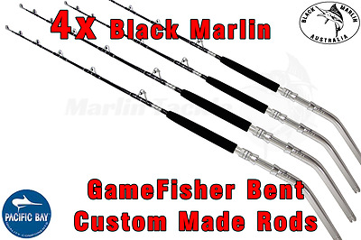 4x BMA 6ft 24kg Stand-up BENT BUTT Game Fishing Offshore Boat Trolling Rods