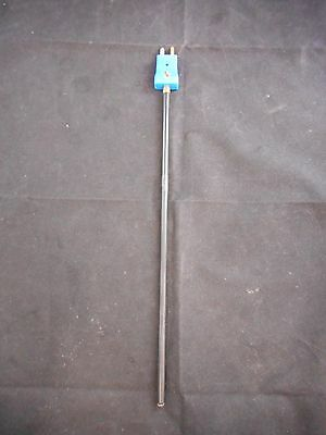 "CHEMGLASS PFA Coated SS 1/4"" Diameter 12"" Long Type ""T"" Thermocouple Probe"