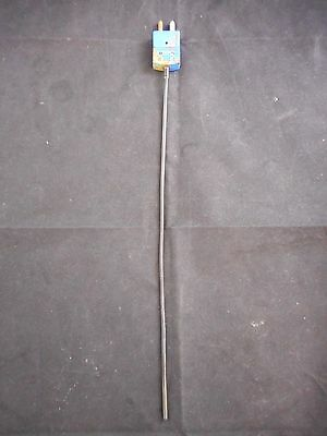"OMEGA PFA-Coated SS 1/8"" Diameter 12"" Long Type ""T"" Thermocouple Probe"