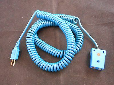 Laboratory Thermocouple Extension Cable T Type Blue Standard to Mini Plug 3'/36""