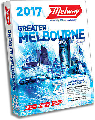 Melway 2017 Melbourne Street Directory Edition 44 - BRAND NEW