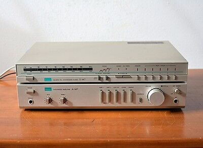 Sansui A-M7 Integrated Amplifier & T-M7 Quartz PLL Synthesizer Tuner Compact Set