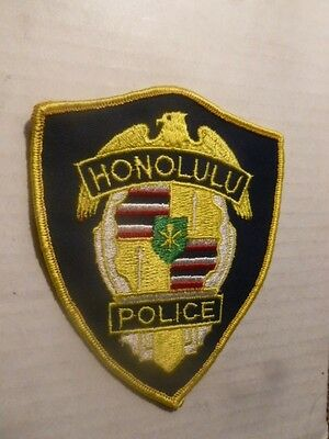 """Honolulu Hawaii Police Patch 4"""" x 4.5""""  free quick shipping and packed careful"""