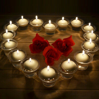 20PCS Round Water Floating Candle Disc Floater Candles Wedding Party 3 Colors