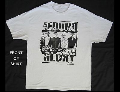 NEW FOUND GLORY Adult Size XL White T-Shirt