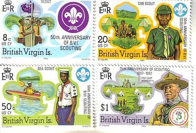 Set of MNH Postage stamps from British Virgin Islands - 1982 - Boy Scouts