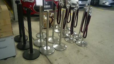 Various queue barriers with velvet ropes