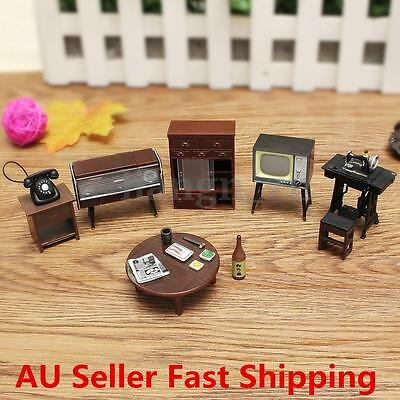 Miniature DollHouse Furniture Sewing Machine Telephone For Children Kids Gift