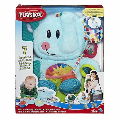 Playskool FOLD N GO BUSY ELEPHANT  7 Activities PLAY STOW GO! USA NWT-Fast Ship!