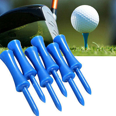 50pcs Plastic Step Down Castle Golf Tees Height Control Blue 68mm/2.68inch