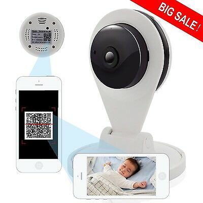 Wireless Security Camera WIFI Baby Monitor 720P HD IR Night Vision Remote View