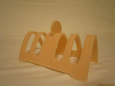 Antique Vintage 1920 1930 Pale Pink Plastic Art Deco Toast Rack