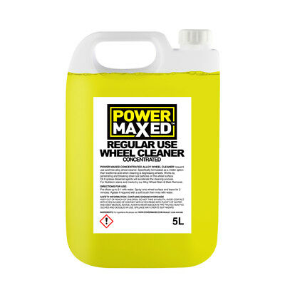 Power Maxed AWC5000 5L Non Acidic Alloy Wheel Cleaner 5 Litres Concentrate