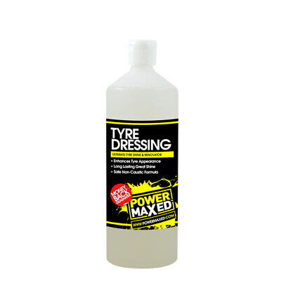 Power Maxed TSRTU 1L Tyre Dressing 1 Litre Ultimate Shine & Rennovator