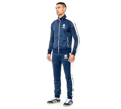 Mens Franklin & Marshall Small Logo Navy Poly Tracksuit RRP £134.99