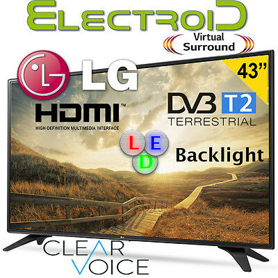 "Tv Led 43"" Lg 43Lh500T Dvb-T2 Tv Led Hdmi Usb Virtual Surround Clear Voice"