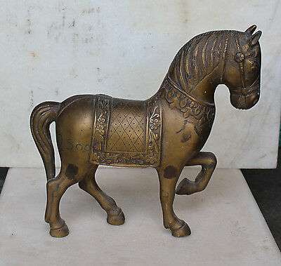 Antique Very Old Vintage Bronze Horse Figurine Sculpture Collectible Rare Animal