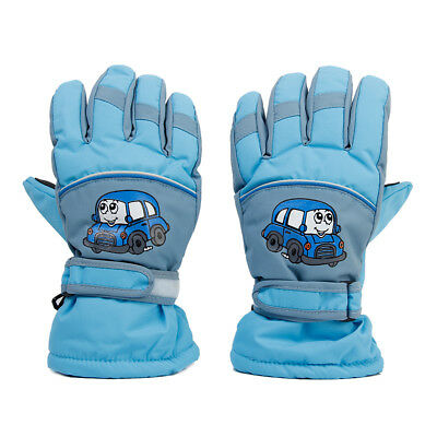 1 Pair Winter Warm Breathable Ski Skating Gloves for 6-8 Years Children Kids