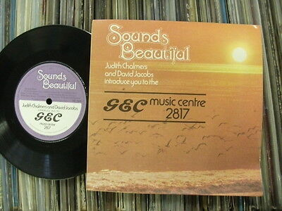 1970s GEC MUSIC CENTRE HI-FI SHOP ONLY PROMO:DAVID JACOBS AND JUDITH CHALMERS