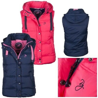Ladies Bodywarmer Rydale Haxby Gilet With Pull Cords Hooded Waistcoat Equestrian