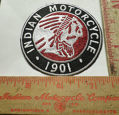 Vintage Indian motorcycle logo patch collectible old USA cycle biker emblem