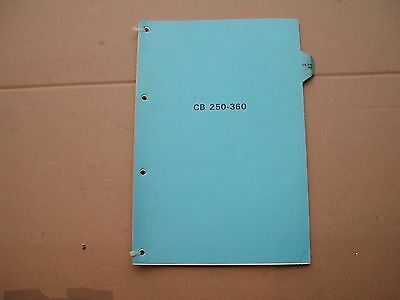Honda CB250 CB360 DEALER workshop manual . genuine not photocopy
