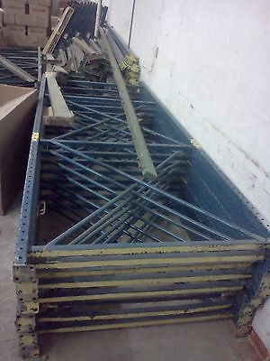 LOT of  Industrial  Warehouse Shelving Pallet Rack Load Beam USED