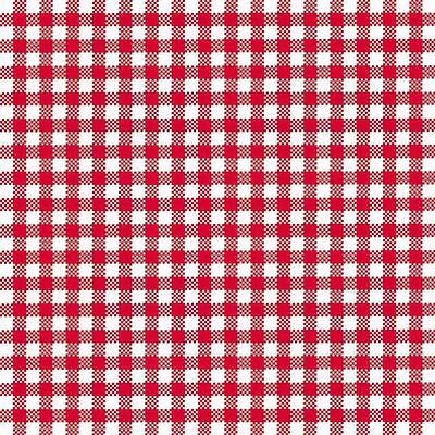 "Red White Gingham 3-Ply 20 Paper Napkins Serviettes 13"" X 13"" - 33Cm X 33Cm"
