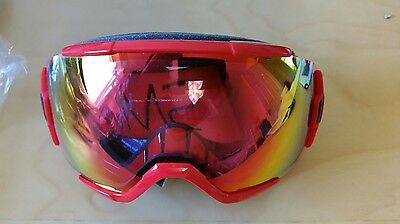 Smith Optics Vice Ski Goggles: Fire Block Frame with Red Sensor Mirror Lens